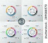 set of 4 modern infographics... | Shutterstock .eps vector #289088570