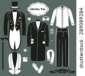 white tie. set of clothing for...   Shutterstock .eps vector #289089284