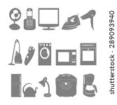 flat icons home appliances  | Shutterstock .eps vector #289093940