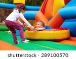 happy kids having fun on... | Shutterstock . vector #289100570