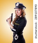 female police against the... | Shutterstock . vector #289107890