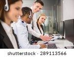 manager explaining something to ... | Shutterstock . vector #289113566