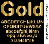 decorative gold font | Shutterstock .eps vector #289115930