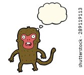 cartoon monkey with thought... | Shutterstock . vector #289119113