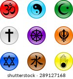 religious icons colored buttons.... | Shutterstock .eps vector #289127168