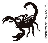 silhouette of scorpion isolated ... | Shutterstock .eps vector #289129274