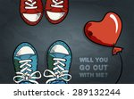 two pair of sneakers  red...   Shutterstock .eps vector #289132244