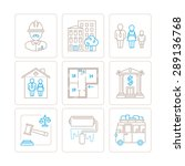set of vector real estate icons ... | Shutterstock .eps vector #289136768