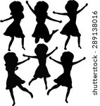 silhouettes of girls in... | Shutterstock .eps vector #289138016