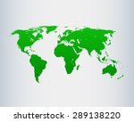 map of world | Shutterstock .eps vector #289138220