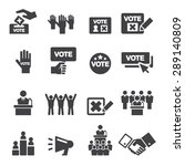 democracy icon | Shutterstock .eps vector #289140809