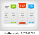 pricing table template.... | Shutterstock .eps vector #289141730