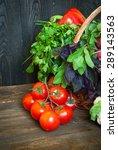 fresh farmer vegetables and... | Shutterstock . vector #289143563