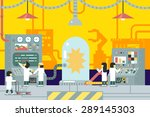 scientific laboratory... | Shutterstock .eps vector #289145303
