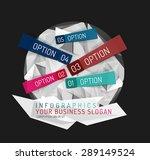 modern origami paper...   Shutterstock .eps vector #289149524