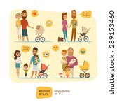 family infographic with... | Shutterstock .eps vector #289153460