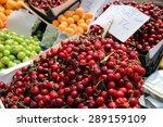 fruits on street market in... | Shutterstock . vector #289159109