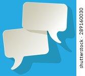 chat speech bubbles vector... | Shutterstock .eps vector #289160030