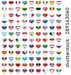 set hearts flags  | Shutterstock .eps vector #289163060