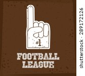 football design over brown... | Shutterstock .eps vector #289172126