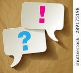 Speech Bubbles Question Mark...