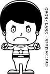 a cartoon superhero boy looking ... | Shutterstock .eps vector #289178060