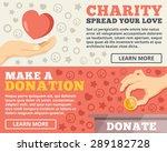 charity  donation flat... | Shutterstock .eps vector #289182728