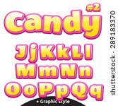 funny children's candy letters.  | Shutterstock .eps vector #289183370