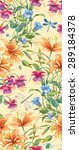 floral composition of different ... | Shutterstock . vector #289184378