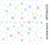 seamless pattern icons. vector... | Shutterstock .eps vector #289186223