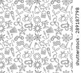 nautical seamless pattern.... | Shutterstock .eps vector #289187798
