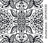 black and white seamless...   Shutterstock .eps vector #289190330