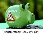 piggy bank with sunset light  ...   Shutterstock . vector #289191134