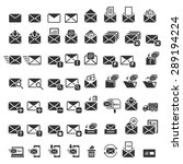 mail icons  vector eps10. | Shutterstock .eps vector #289194224
