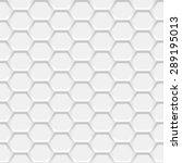 white hexagonal grid background.... | Shutterstock .eps vector #289195013