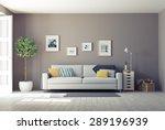 modern interior.3d design... | Shutterstock . vector #289196939