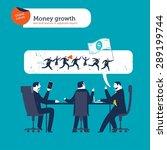 businesspeople meeting speech... | Shutterstock .eps vector #289199744