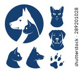 cat and dog vector signs and... | Shutterstock .eps vector #289201028