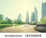 park in lujiazui financial... | Shutterstock . vector #289208858