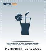 vector glass of juice icons  | Shutterstock .eps vector #289213010