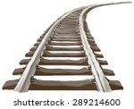 curved endless train track.... | Shutterstock .eps vector #289214600