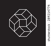geometric symbol  square  line... | Shutterstock .eps vector #289214774