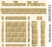 vector stone platform for games | Shutterstock .eps vector #289219013