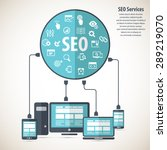 seo services concept with 20...   Shutterstock .eps vector #289219070
