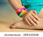 loom bracelets on child hand... | Shutterstock . vector #289220348