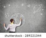 rear view of businesswoman... | Shutterstock . vector #289221344