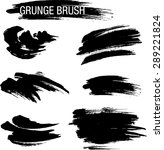 vector set of grunge brush... | Shutterstock .eps vector #289221824