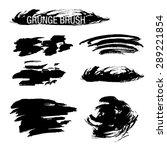 vector set of grunge brush... | Shutterstock .eps vector #289221854