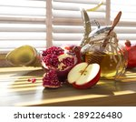 Honey Jar With Apples And...