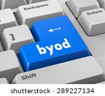 byod keyboard key of a notebook ... | Shutterstock . vector #289227134